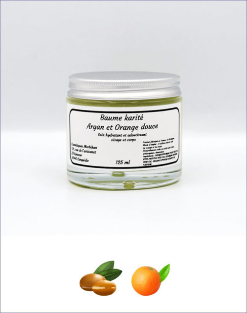 Baume karité Argan et Orange douce